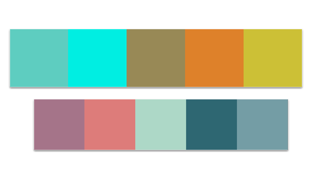 Color palette for the nature look