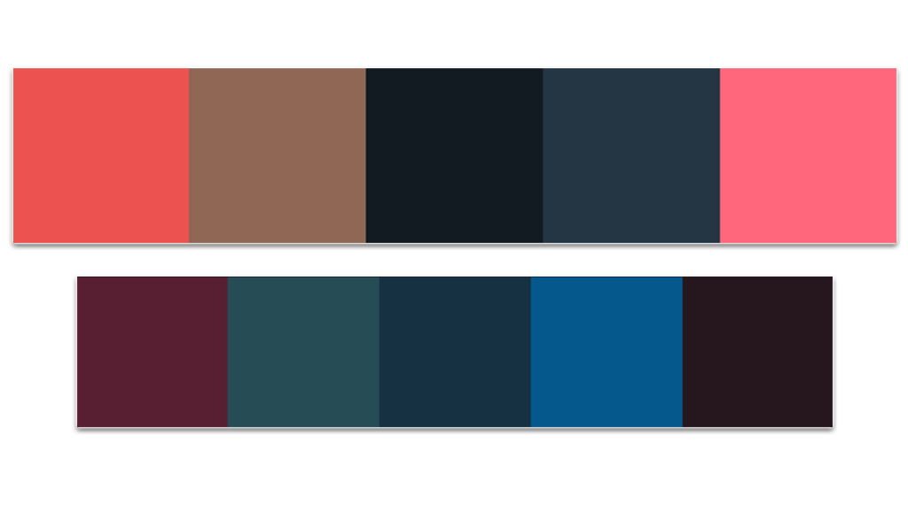 Color palette for the dark look