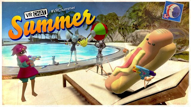 VRChat summer hotdog avatar promotion