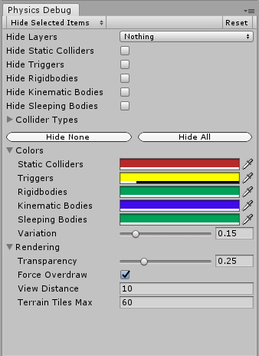 Physics Debugger in Unity