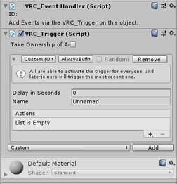 VRChat trigger in Unity