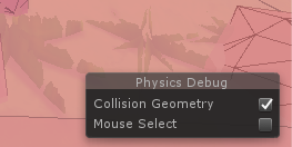 Physics Debugger: Collision geometry
