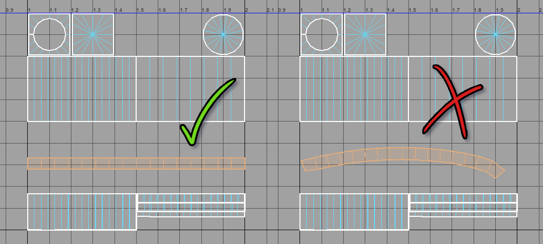 How to unwrap the UVs of a column